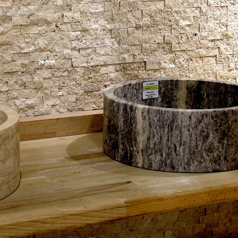 Vasque rond plat naturel