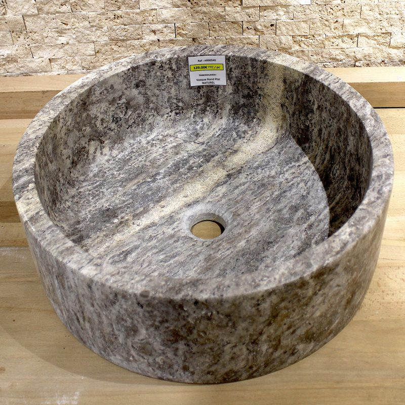Vasque rond plat naturel